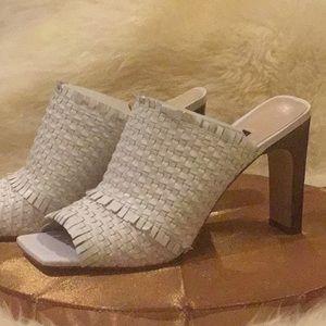 White Mule Sandals - NWOT